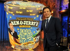 Jimmy Fallon with his new namesake flavor