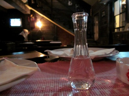Liqueur at a traditional tavern, Belgrade