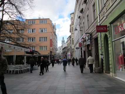 pedestrian mall in downtown Sarajevo
