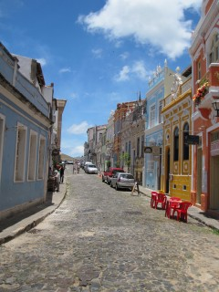 Street scene outside Salvador's old center (pelourinho)