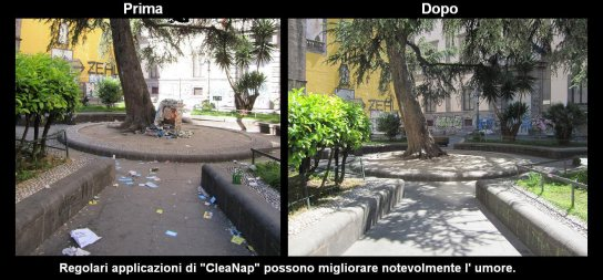San Giovanni Maggiore, before and after (courtesy CleaNap)