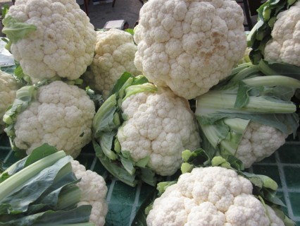 giant heads of cauliflower-the pics don't do them justice
