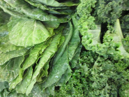 greens large enough to fan yourself and your family