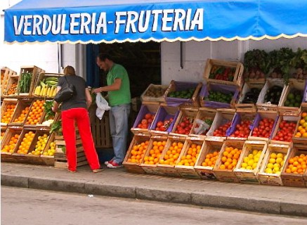 Produce stand, Montevideo, Uruguay