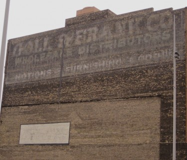 Old cough drop ghost sign, Third Ward, Milwaukee