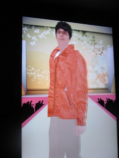 orange jacket looks all right from the runway, but does it fit?