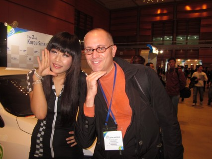 A playful break during Korea Smart Grid Week 2011