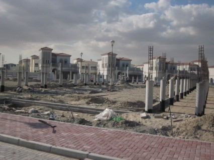 Construction of a new residential neighborhood