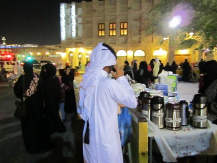 The souq alive at night