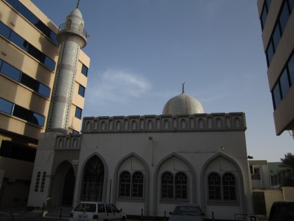 Mosque in Bab al Bahrain, where Leon Kaye was caught in a huge release of tear gas after a demonstration.