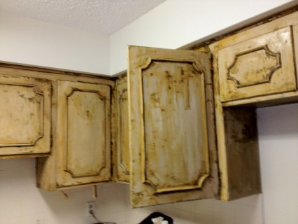 How To Remove Paint From Kitchen Cabinets Eco Friendly Cabinet Stripping A  Daunting Process Greengopost Com