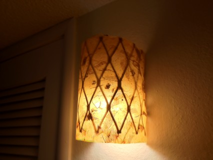 DIY, hallway light, light fixture, do it yourself, hanji, korean handmade paper, Korea, fig garden project